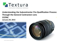 Understanding the Subcontractor Prequalification Process:  Through the General Contractor Lens
